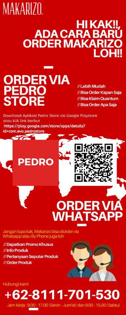 Order Via Pedro Store